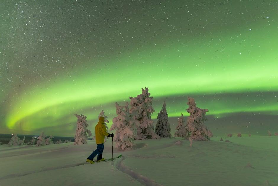 Jarkko hiihtää kuva Milla Heikkinen